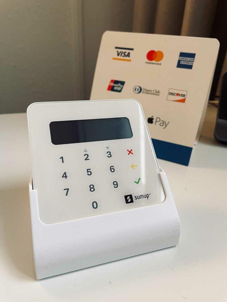 SumUp Kartenzahlung, Kredikarten, Apple Pay, etc.